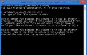CHKDSK fixes