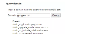 HSTS Chrome error