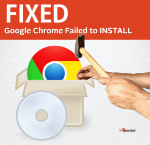 Chrome Installation Failed due to Unspecified error