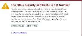 Chrome's security error