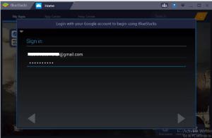 Bluestacks login Gmail
