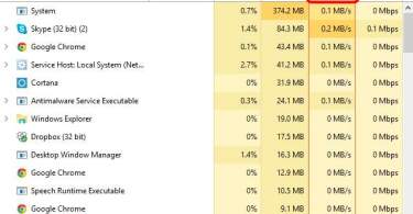 100 percent disk usage
