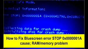 0*0000001a Memory Management Error