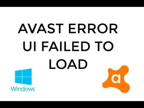 avast ui not working