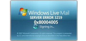 windows live mail server ERROR 3219 ERROR