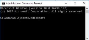 Format hard drive from command prompt
