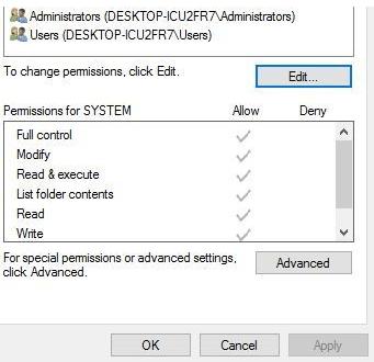 Edit Security to fix Skype error 1603