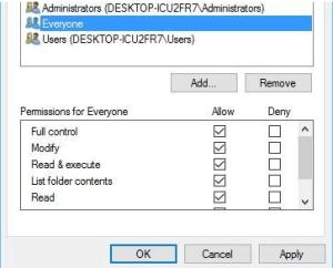 Edit security full control