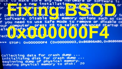 0x000000f4 BSOD Error- How to Fix Windows BSOD Error First of all, you are not the only Windows user who is facing the 0x000000f4 BSOD Error error. This is a blue screen of death error in Windows computer and many users have already faced it. And for you, I have come here with a few possible resolves. But before performing the resolution steps, I want you to know what causes this error to appear.  Reasons for 0x000000f4 BSOD Error Before we perform the solution process, here are some common reasons why you are facing the problem, mind to check them out? Due to the corrupted or incorrect installation of your OS system, you might face this BSOD error Outdated or damaged driver software can also be the reason for this problem Corrupted or malfunctioned hard drive can also be the problem Viruses attack can also be the reason Due to low memory storage, a corrupted software file or a particular game or software program can lead to this issue. How to Resolve 0x000000f4 BSOD Error- Update the Drivers If the driver software is not updated, it can cause many problems. If you have recently updated the drivers and still facing the problem, you can follow the steps below-  From Windows Device Manager First, press Windows logo key and R together to open the Run box Enter 'devmgmt.msc' in the empty box In a new window, you can find the list of drivers installed in your PC You then can choose from the drivers and then right-click on it and select Update Driver Software You have to choose one from the two options below- Search automatically for updated driver software Browse my computer for driver software The first option will search for the compatible drivers online and will start updating them automatically The second option wants you to have the driver software in your computer's hard drive  Update Manually In case you are having a problem in updating the drivers from device manager, you can do it manually, it is may be difficult, but here is the procedure- First, visit your PC'
