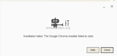 Chrome Installation Failure