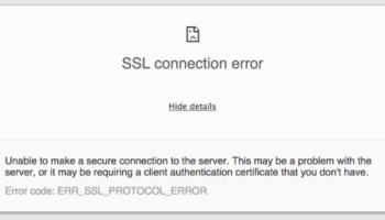 Google Chrome Err_Connection Reset Error   Not Responding