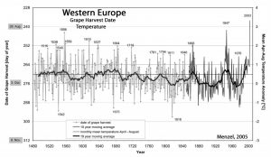 Grape Harvest Date Evidence: No Significant Modern Warmth