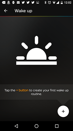 Philips Hue app wake up routines