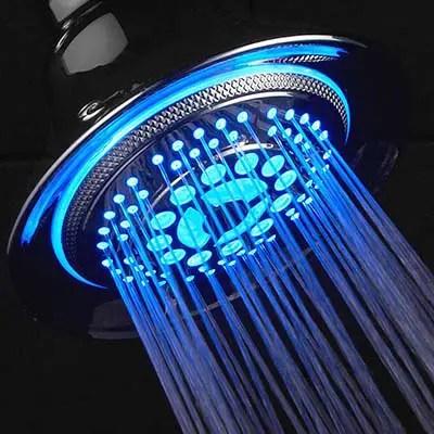 led color changing shower head