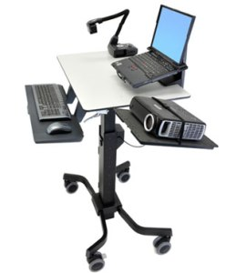 ergotron-teachwell-with-projector-stand