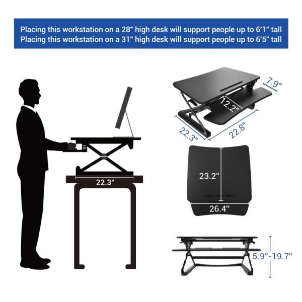 FlexiSpot M1B Height Adjustment Options