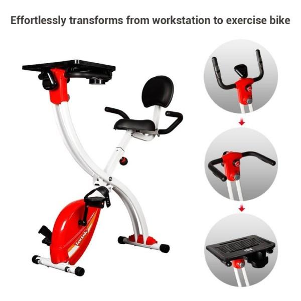 Loctek F1MR Fitness Magnetic Laptop Bike with Tabletop Design - Versatility