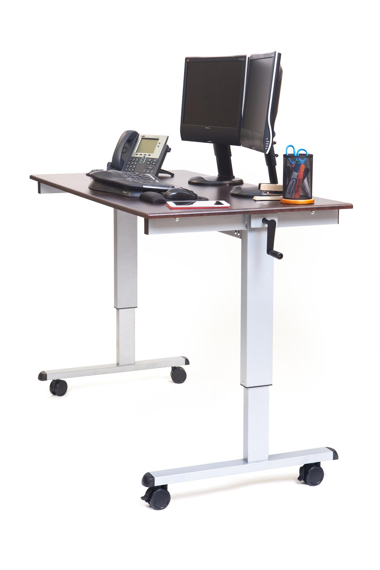 Luxor 60 Hand Crank Adjustable Stand Up Desk NotSittingcom