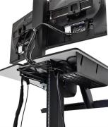 WorkFit-C, Single LD Sit-Stand Workstation - Cable Management