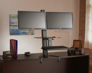 TaskMate Go Dual Monitor Standing Desk