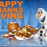 Happy Thanksgiving!  #DisneyFrozenEvent
