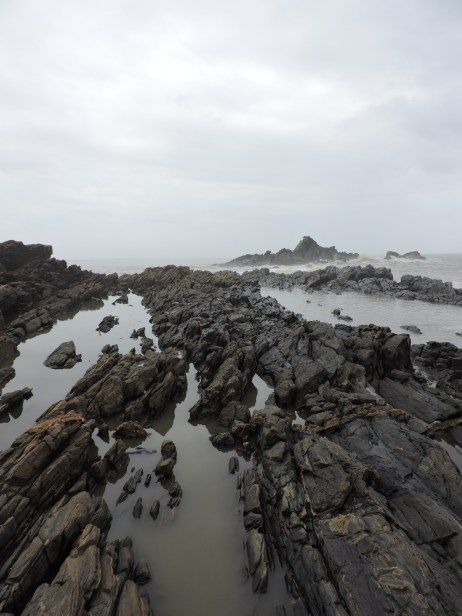 menacing rocks