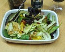 Salad of Courgette ribbons etc.