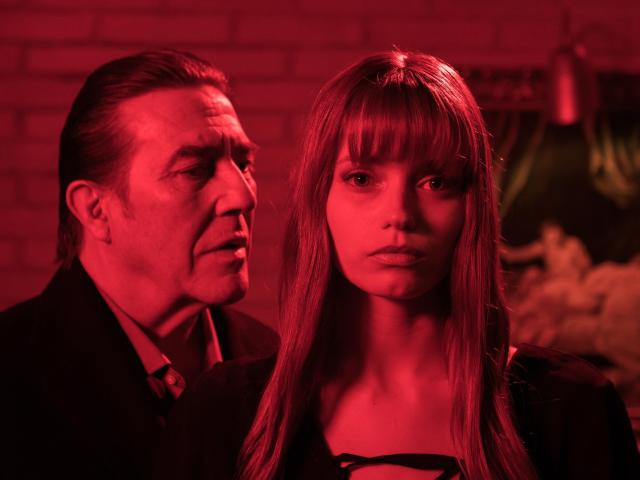 abby lee and ciaran hinds in elizabeth harvest