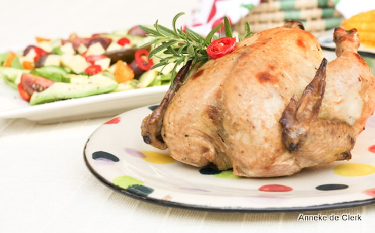 Vanilla and rosemary chicken