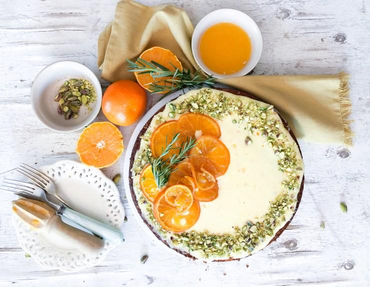 Mandarin olive oil cake