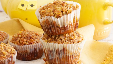 Peacan and banana muffins