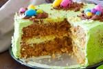Pistachio easter cake