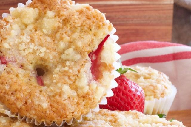 Sourdough discard strawberry muffins.