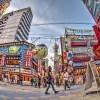【HDR写真】今週の大阪・新世界。4月30日夕方の新世界の風景をHDR化。