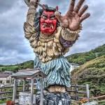 【HDR写真】高さ9.99メートル!男鹿半島 門前のなまはげ立像は迫力満点。