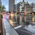 【HDR写真】雨が続く日々。泪橋付近の写真を若干彩度抑えめにHDR化。