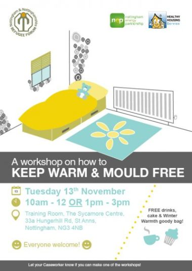 Mould and Warmth Workshop Invite