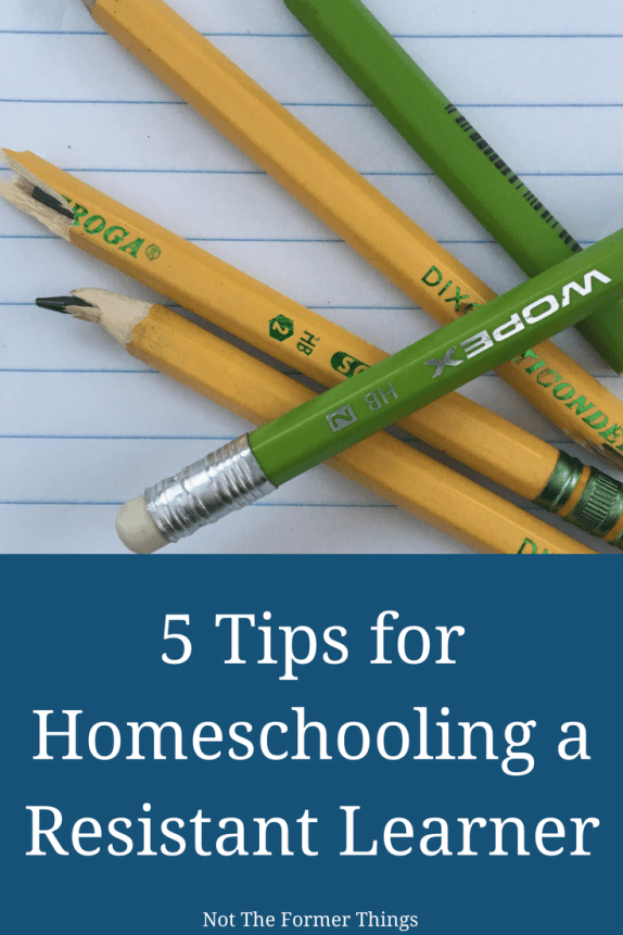 5 Tips For Homeschooling A Resistant Learner - #homeschool #learningdifferences