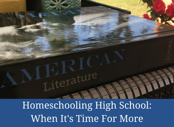 Homeschooling High School: When It's Time For More #homeschool #homeschoolmom #apologia #highschool