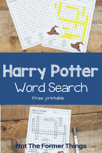 Harry Potter Word Search with Free Printable #homeschool #printable #kidsactvity