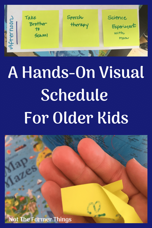 A Hands-On Visual Schedule For Older Kids