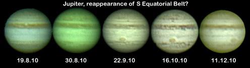 Jupiter: is it return of SEB? (by Bryan Lilley)