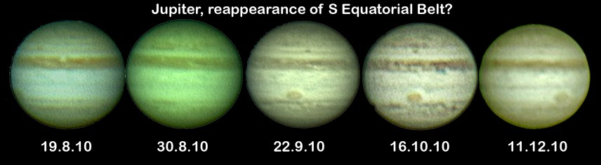 Jupiter: is it return of SEB? (by Bryan Lilley)