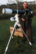 Richard and his SkyWatcher (Refractor, 120mm, F8)