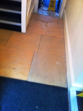 York Stone Flagstone Hallway Floor After Cleaning in Newark