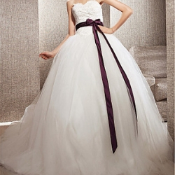 A-Line ball gown (Several layers, medium - long train)