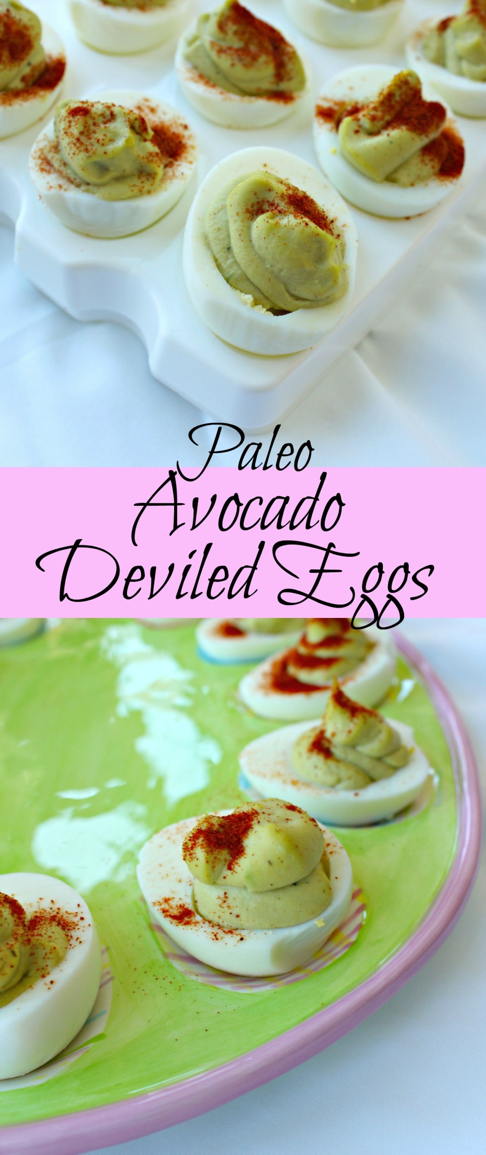 Avocado deviled eggs pin