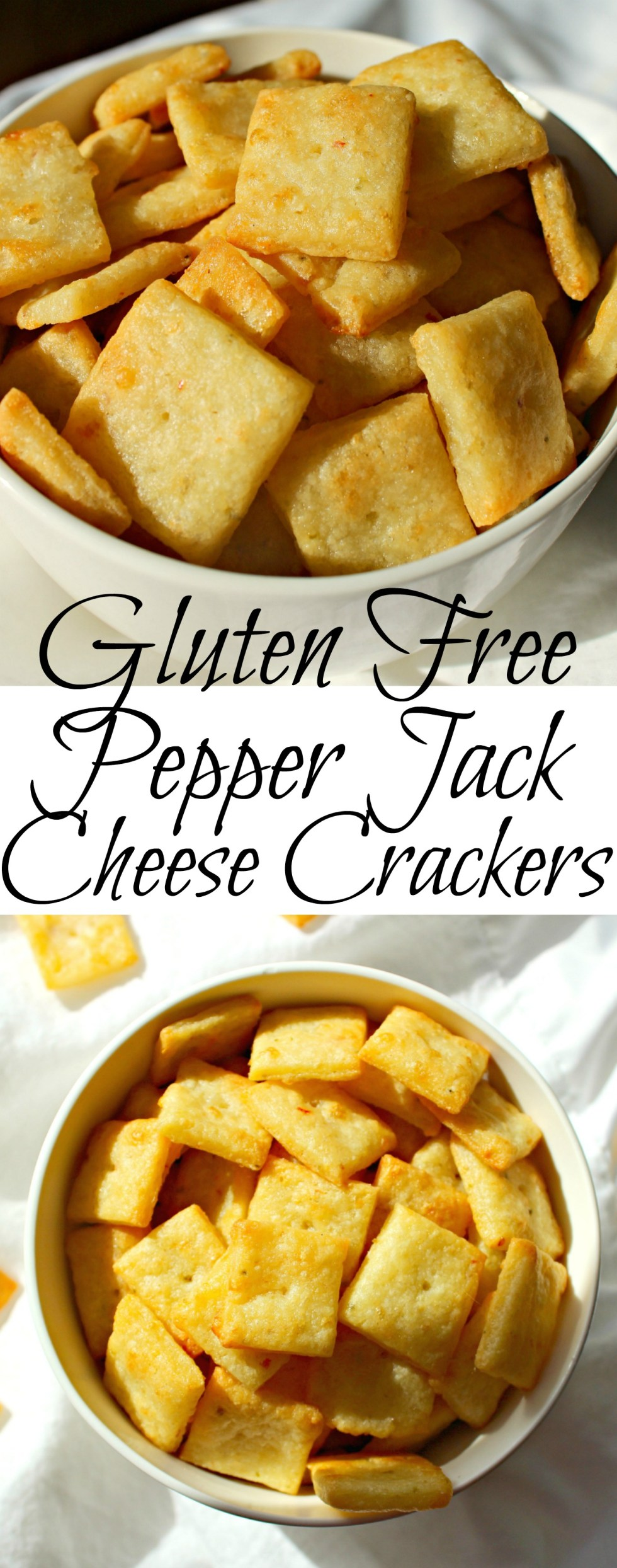 Gluten Free Pepper Jack Cheese Crackers Pin