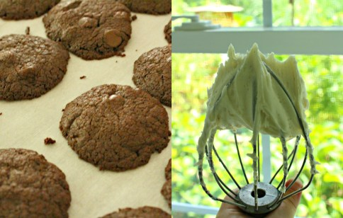 brownie whoopie pies collage