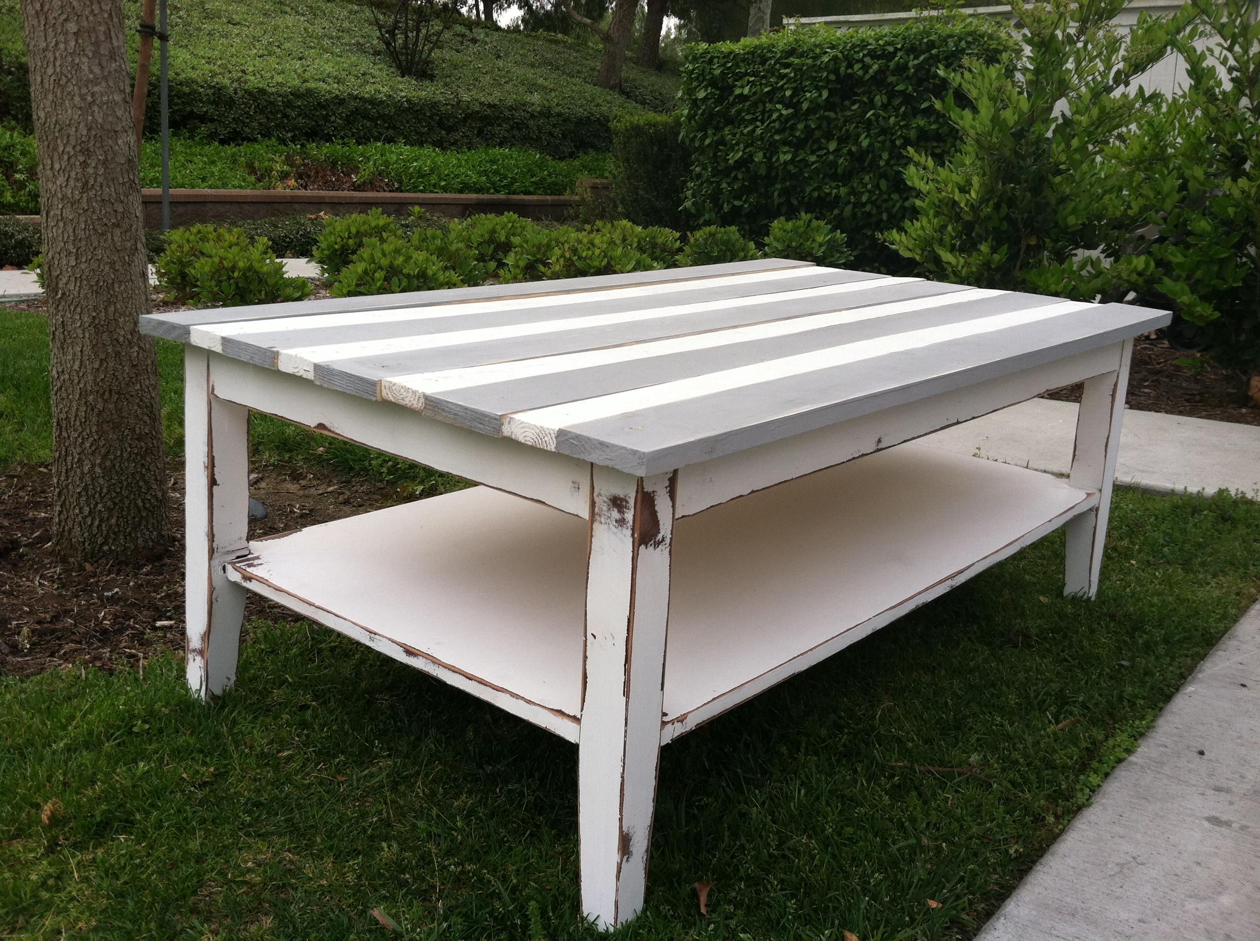 refurbished coffee table salvaged